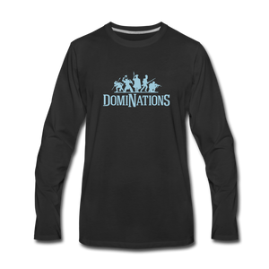 Men's DomiNations Light Blue Logo Long Sleeve T-Shirt - black