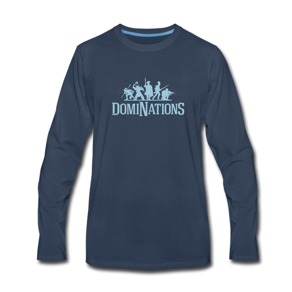 Men's DomiNations Light Blue Logo Long Sleeve T-Shirt - navy