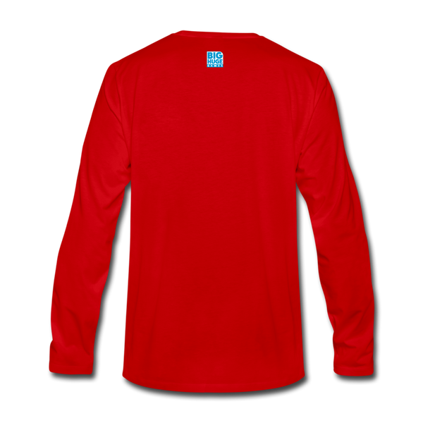 Men's DomiNations Light Blue Logo Long Sleeve T-Shirt - red