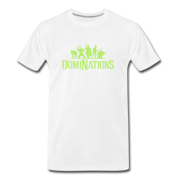 Men's DomiNations Lime Green Logo T-Shirt - white