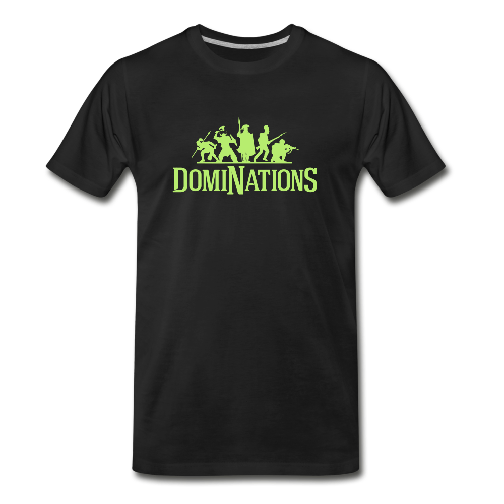 Men's DomiNations Lime Green Logo T-Shirt - black