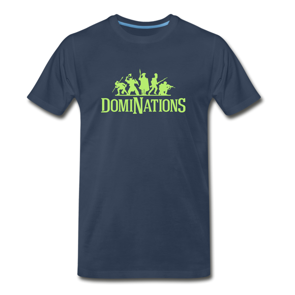 Men's DomiNations Lime Green Logo T-Shirt - navy