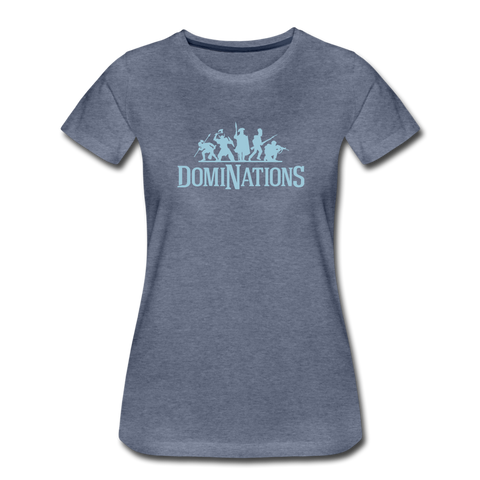 Women's DomiNations Light Blue Logo T-Shirt - heather blue