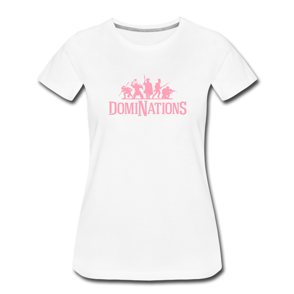 Women's DomiNations Pink Logo T-Shirt - white