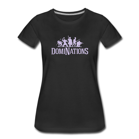Women's DomiNations Light Purple Logo T-Shirt - black