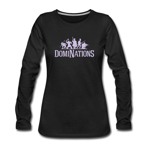 Women's DomiNations Light Purple Long Sleeve T-Shirt - black