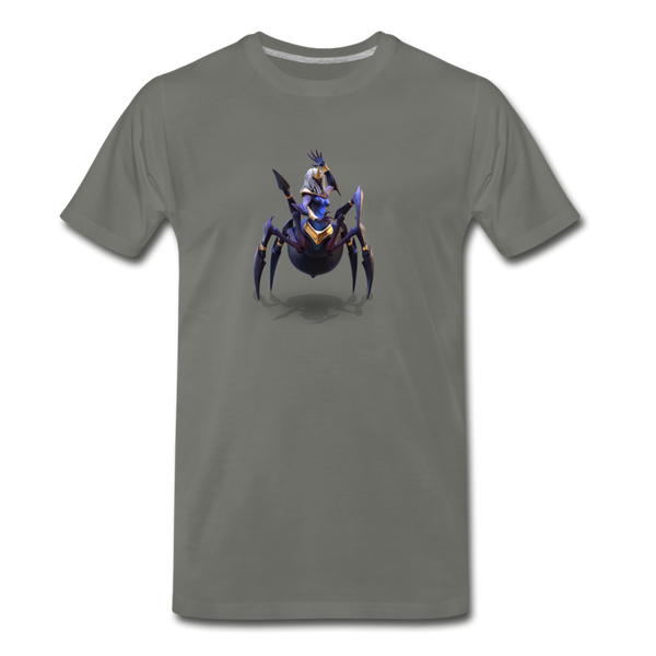 Men's Arcane Showdown Spider Queen T-Shirt - asphalt gray