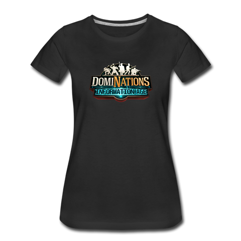 Women's DomiNations Information Age T-Shirt - black