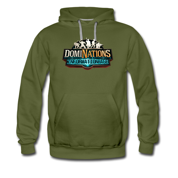 Men's DomiNations Information Age Hoodie - olive green
