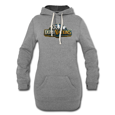 Women's DomiNations Logo Hoodie Dress - heather gray
