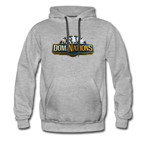 Men's DomiNations Big Logo Hoodie - heather gray