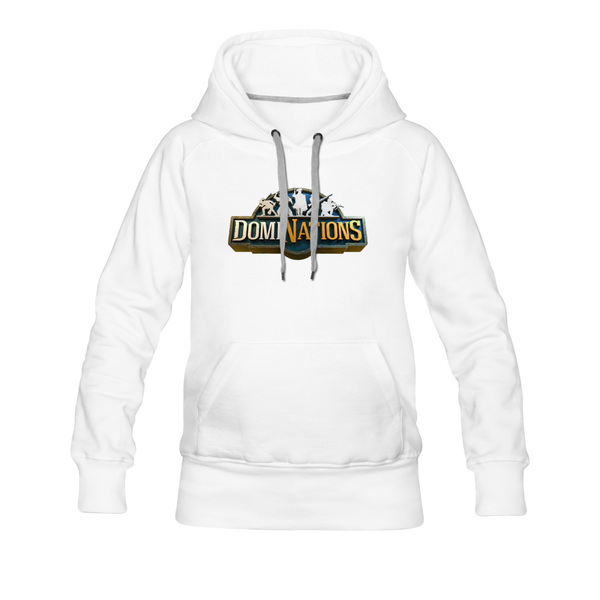 Women's DomiNations Big Logo Hoodie - white