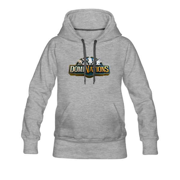 Women's DomiNations Big Logo Hoodie - heather gray
