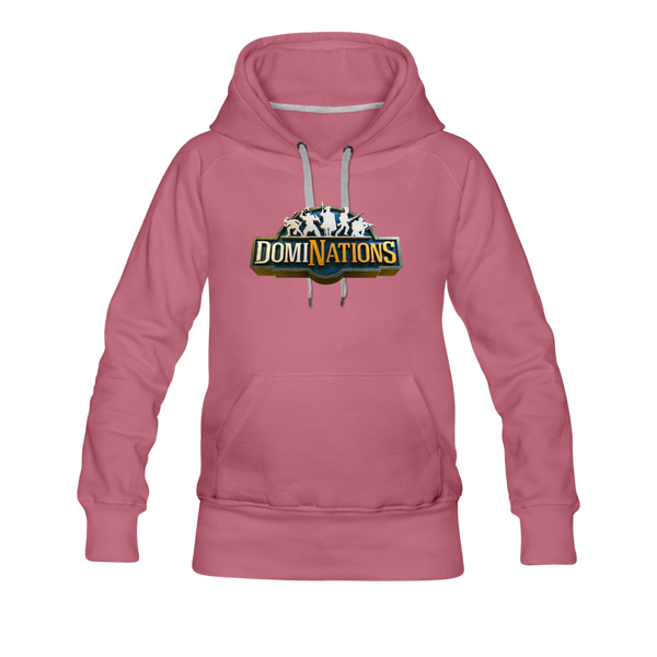 Women's DomiNations Big Logo Hoodie - mauve