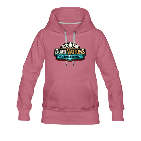 Women's DomiNations Information Age Hoodie - mauve