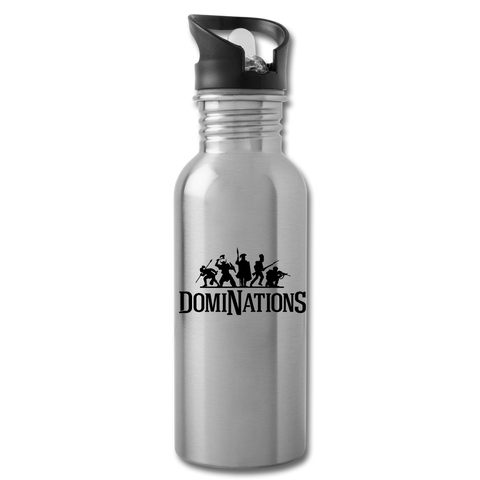 DomiNations Black Logo Water Bottle - silver