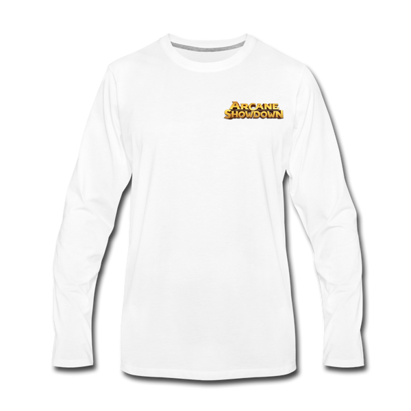 Men's Arcane Showdown Logo Long Sleeve T-Shirt - white