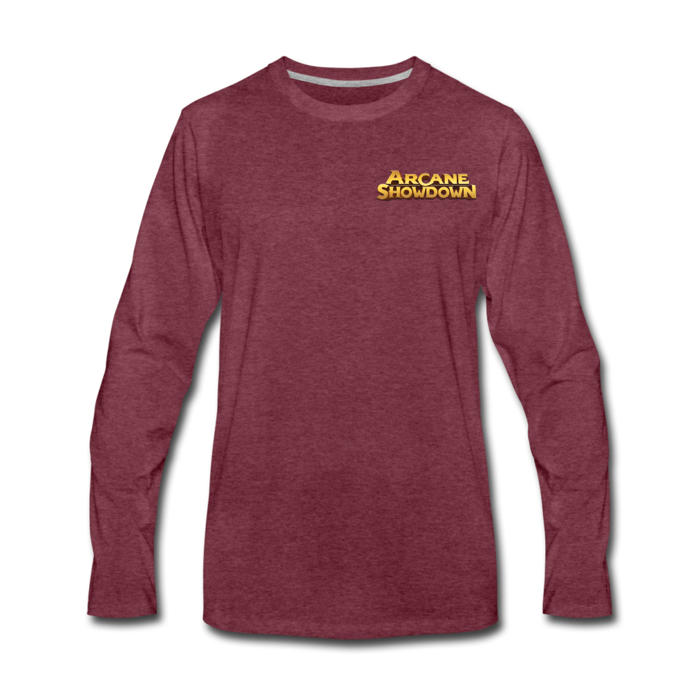 Men's Arcane Showdown Logo Long Sleeve T-Shirt - heather burgundy