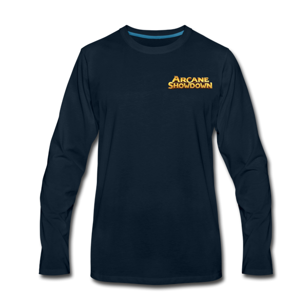 Men's Arcane Showdown Logo Long Sleeve T-Shirt - deep navy