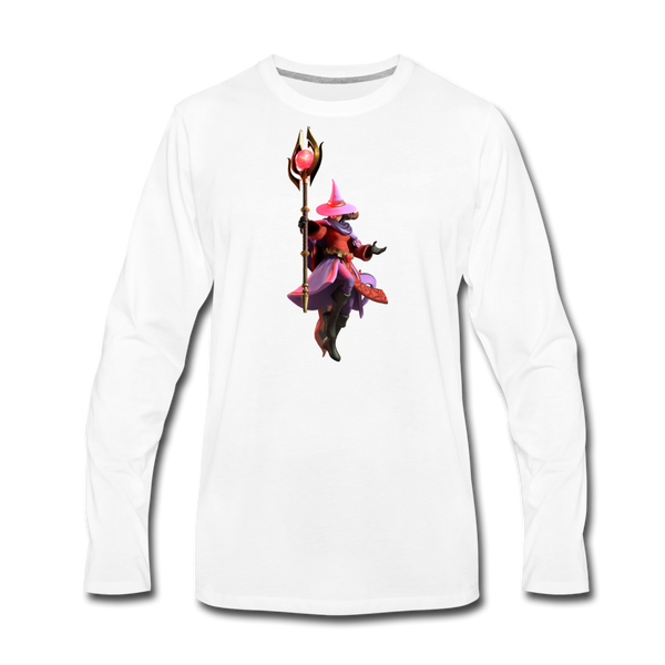Men's Arcane Showdown Red Mage Long Sleeve T-Shirt - white