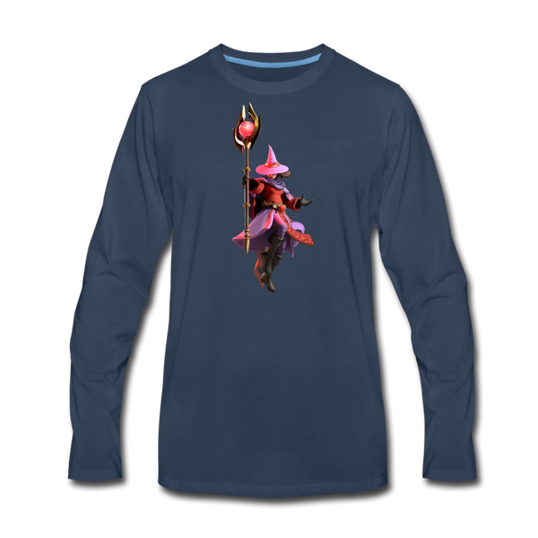 Men's Arcane Showdown Red Mage Long Sleeve T-Shirt - navy