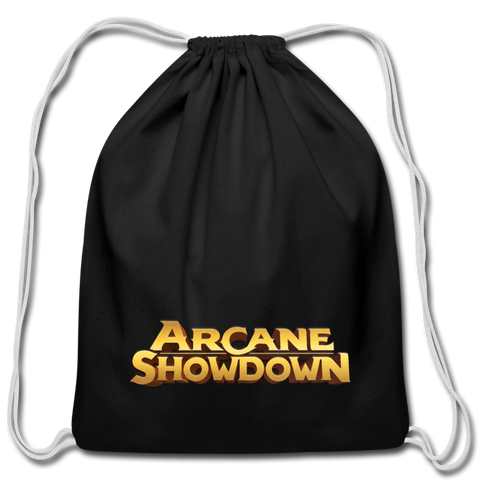 Arcane Showdown Drawstring Bag - black