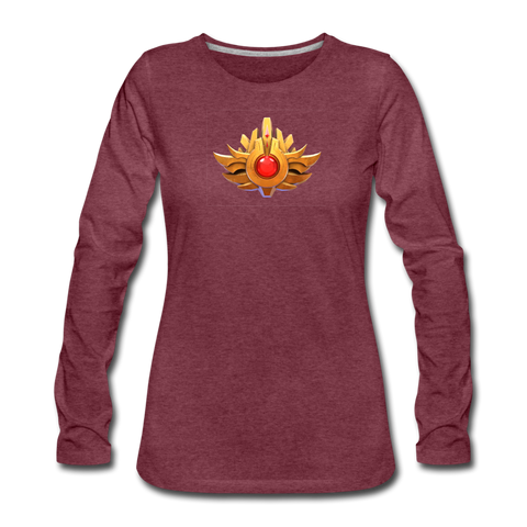 Women's Arcane Showdown Arcane Pass Long Sleeve T-Shirt - heather burgundy