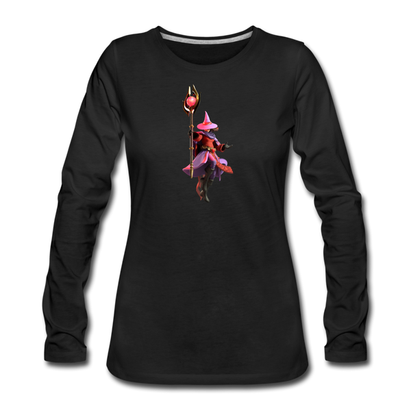Women's Arcane Showdown Red Mage Long Sleeve T-Shirt - black