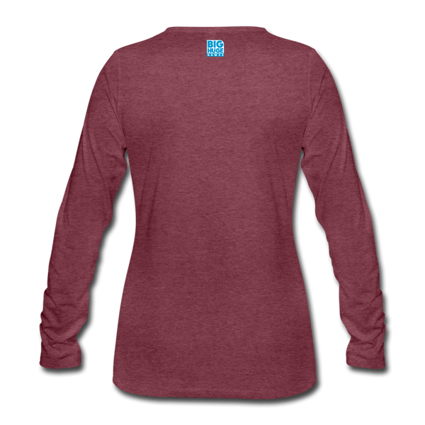 Women's Arcane Showdown Red Mage Long Sleeve T-Shirt - heather burgundy