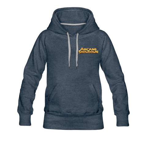 Women's Arcane Showdown Logo Hoodie - heather denim