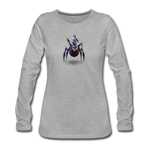 Women's Arcane Showdown Spider Queen Long Sleeve T-Shirt - heather gray