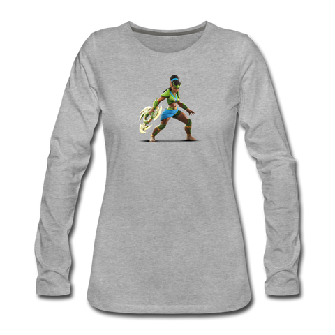 Women's Arcane Showdown Huntress Long Sleeve T-Shirt - heather gray