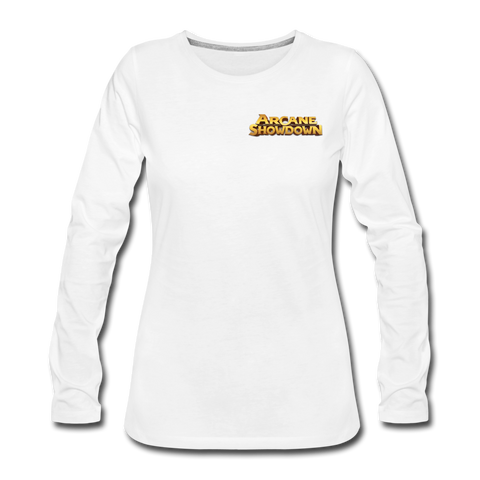 Women's Arcane Showdown Logo Long Sleeve T-Shirt - white