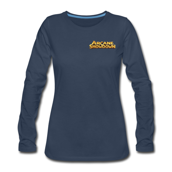 Women's Arcane Showdown Logo Long Sleeve T-Shirt - navy