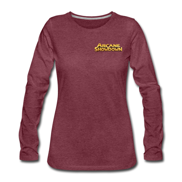 Women's Arcane Showdown Logo Long Sleeve T-Shirt - heather burgundy