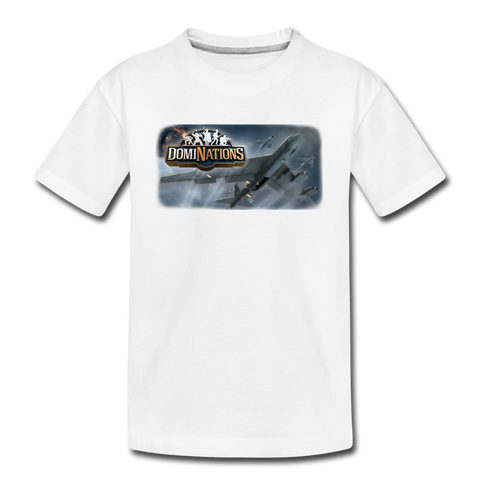 Kid's DomiNations Planes T-Shirt - white