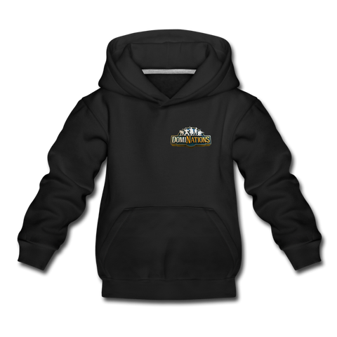 Kids' DomiNations Small Logo Hoodie - black