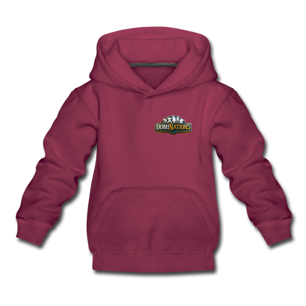 Kids' DomiNations Small Logo Hoodie - burgundy