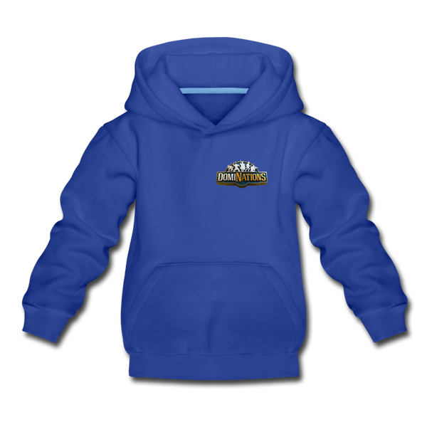 Kids' DomiNations Small Logo Hoodie - royal blue