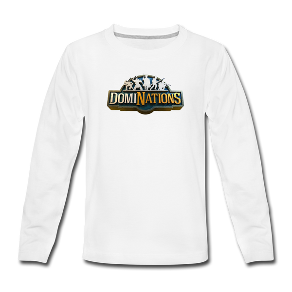 Kids' DomiNations Long Sleeve T-Shirt - white