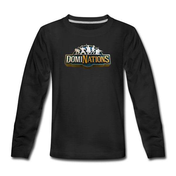 Kids' DomiNations Long Sleeve T-Shirt - black