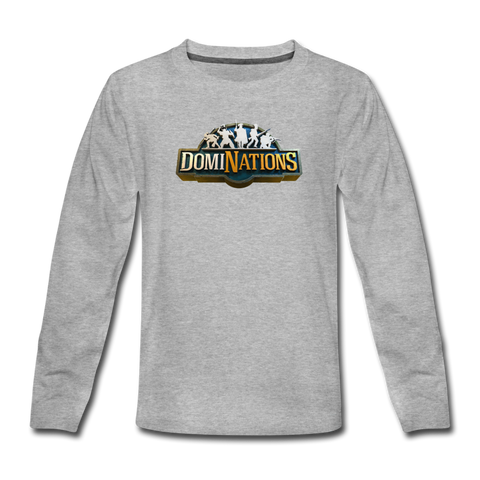 Kids' DomiNations Long Sleeve T-Shirt - heather gray