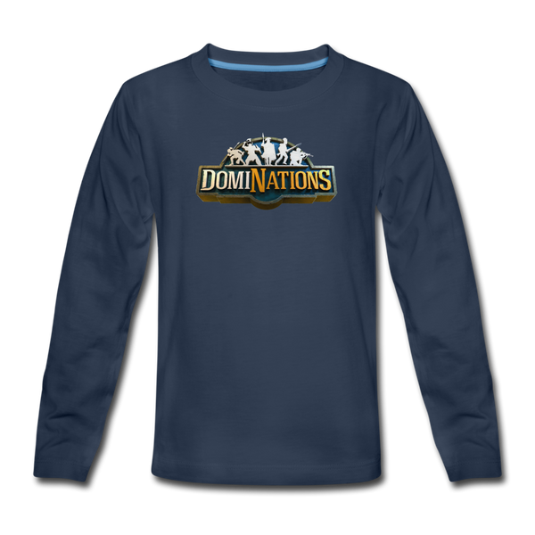 Kids' DomiNations Long Sleeve T-Shirt - navy