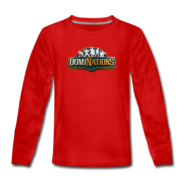 Kids' DomiNations Long Sleeve T-Shirt - red