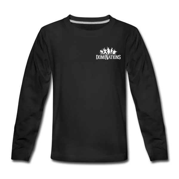 Kids' DomiNations Small Logo Long Sleeve T-Shirt - black