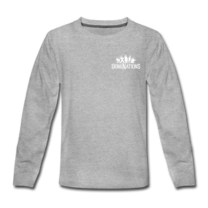 Kids' DomiNations Small Logo Long Sleeve T-Shirt - heather gray