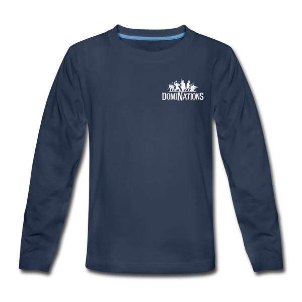 Kids' DomiNations Small Logo Long Sleeve T-Shirt - navy