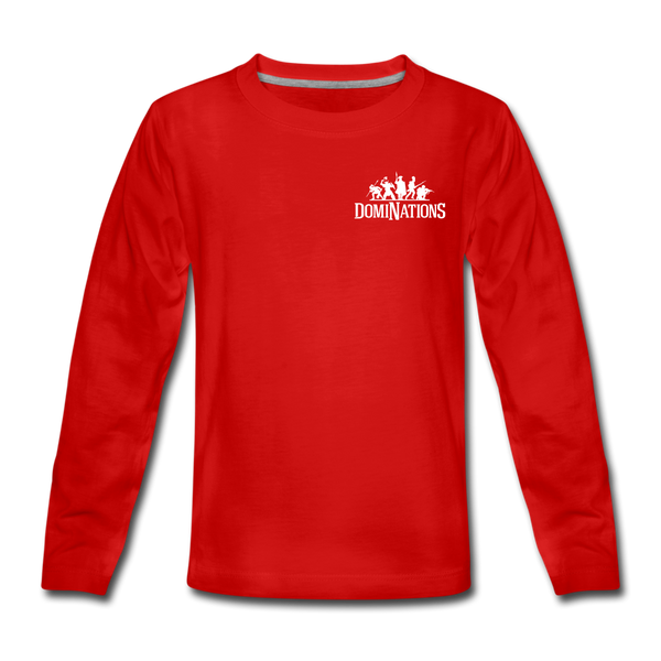 Kids' DomiNations Small Logo Long Sleeve T-Shirt - red