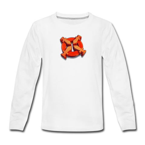 Kids' DomiNations Rally Long Sleeve T-Shirt - white
