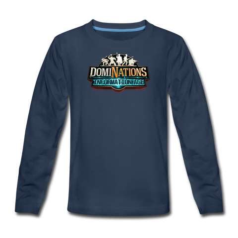 Kids' DomiNations Information Age Long Sleeve T-Shirt - navy